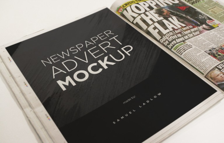 Book Print Ad Mockup