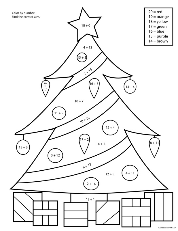 Christmas Color By Number Pages