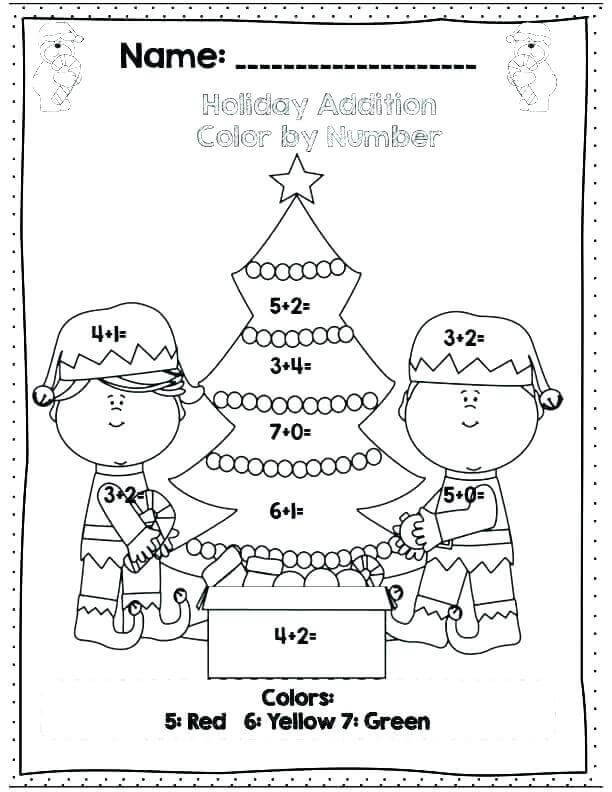 Color By Number Christmas Printables