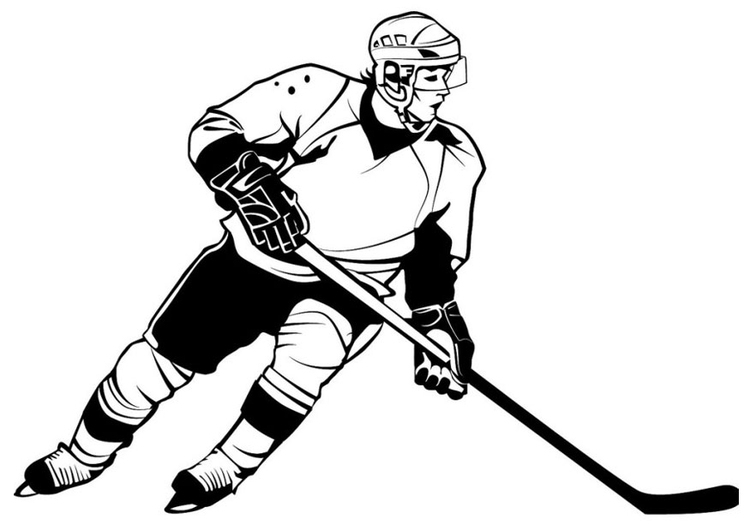 coloring page ice hockey people to printable
