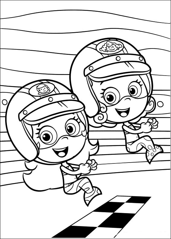 Coloring Pages Bubble Guppies