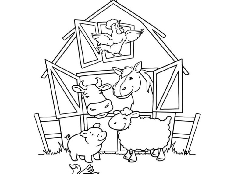 Coloring Pages Farm Animals For Kids