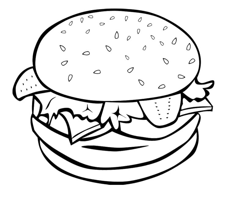 Coloring Pages Of Cute Food