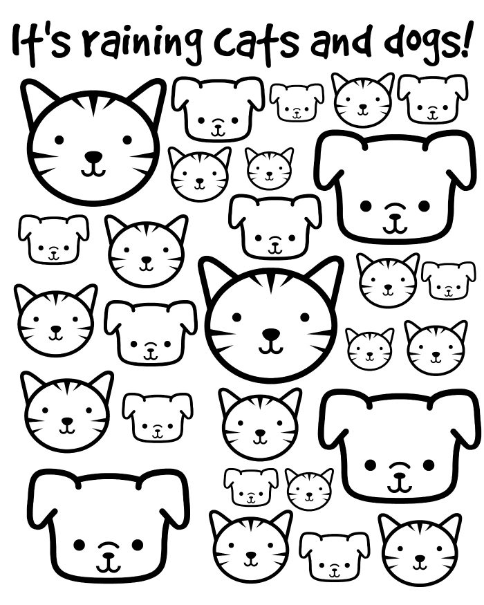 Coloring Pictures Of Dogs And Cats