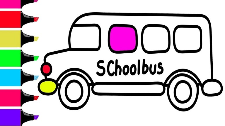 colourful magic school bus coloring page free download