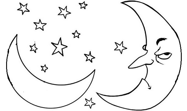 Colouring Pictures Of The Moon