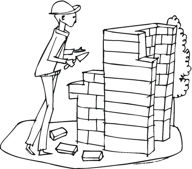 construction coloring sheet