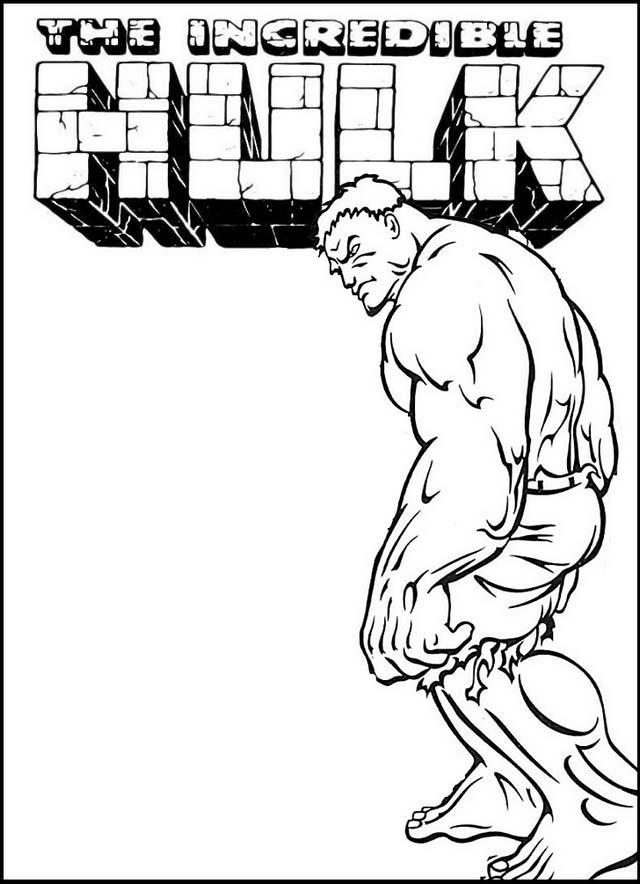 cool hulk coloring page printable poster