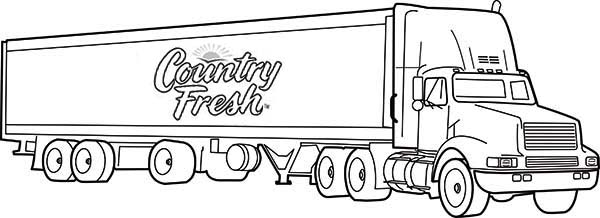 country fresh semi long truck coloring page download print online