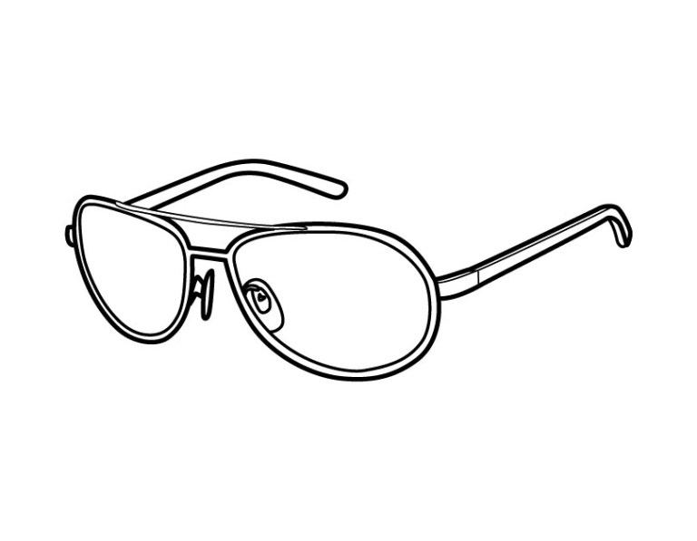 cute goggles coloring download