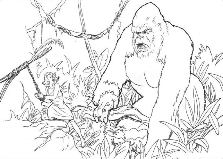cute king kong printable coloring pages to Gallery
