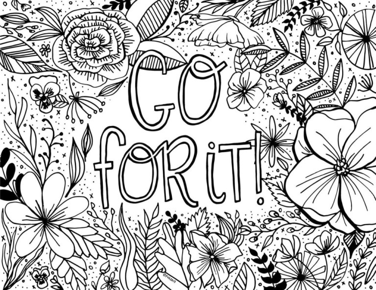 cute printable adult coloring pages quotes pictures