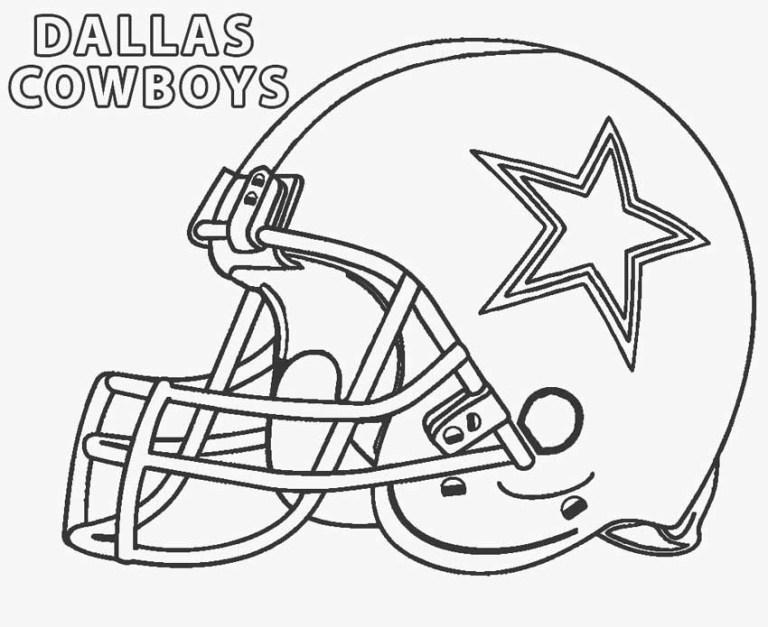 Dallas Cowboys Helmet Coloring Pages