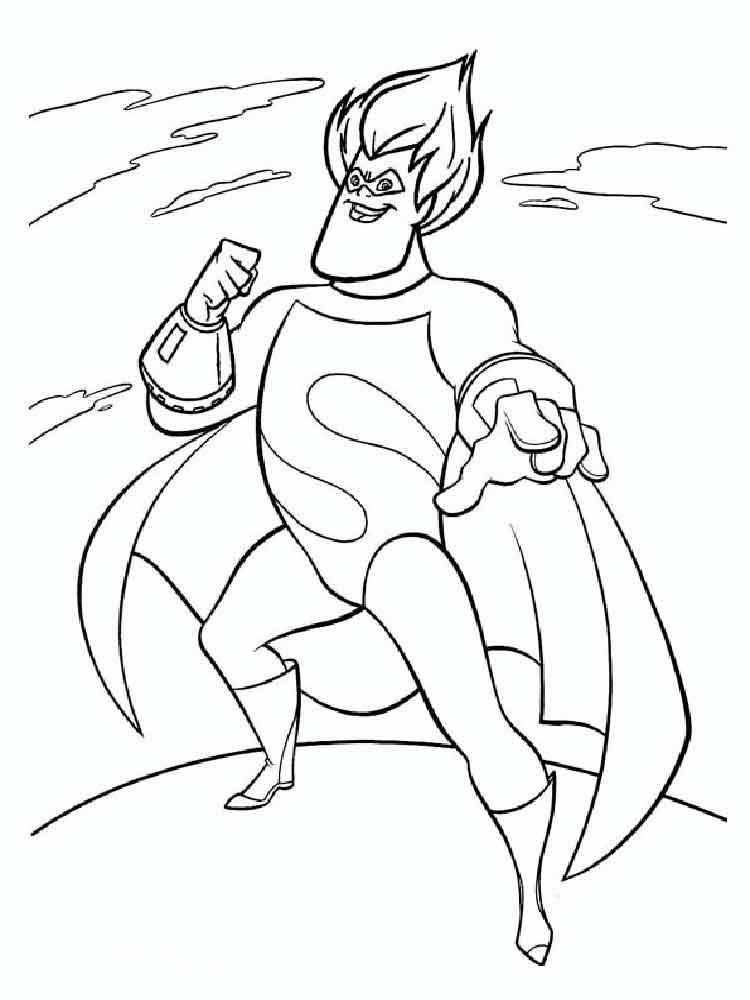 Dash Incredibles Coloring Page