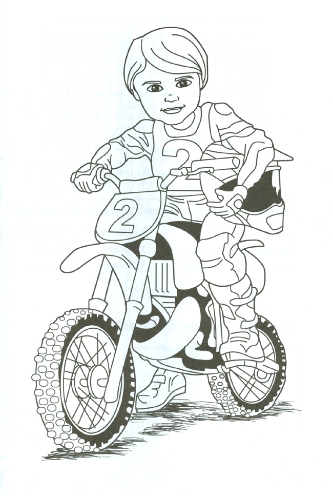 Easy Dirt Bike Coloring Pages