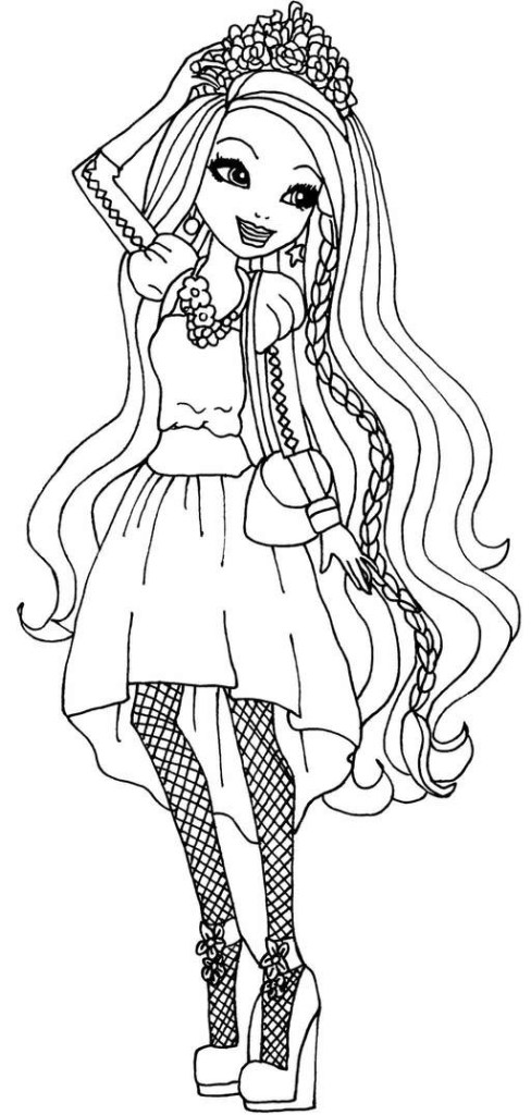 Ever After High Coloring Pages Blondie Locks