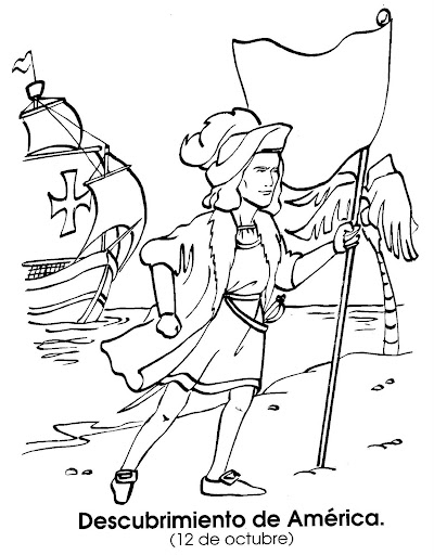 flag columbus day free coloring pages