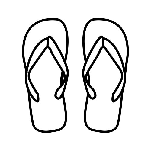 flip flops coloring pages drawings free downloads