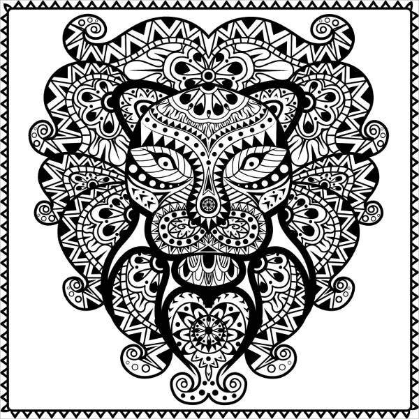 free animal abstract coloring pages templates