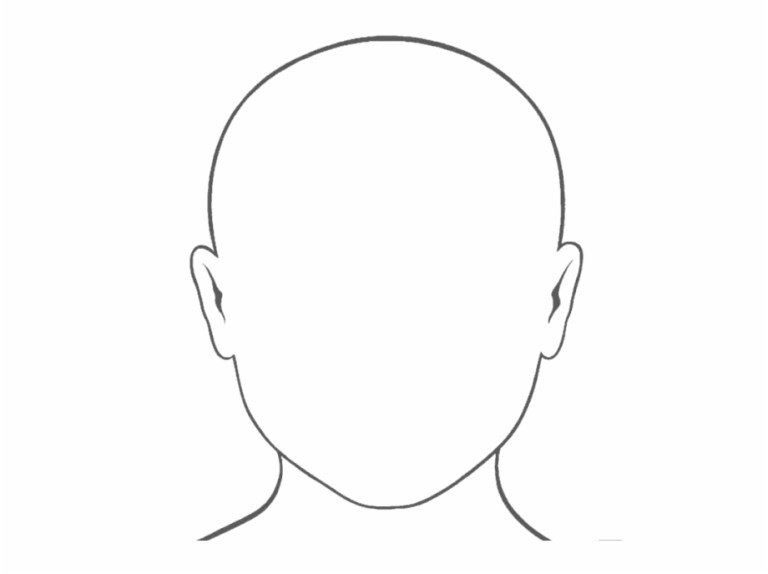 Free Blank Faces Template