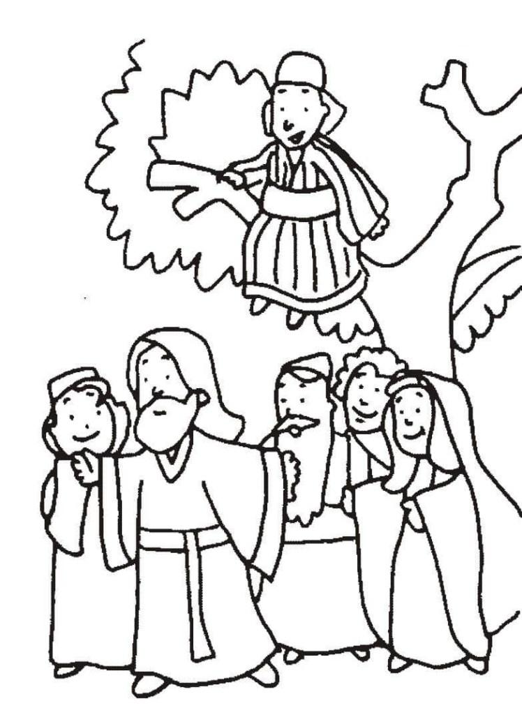 free color pages zacchaeus
