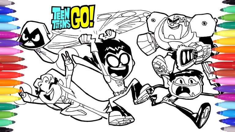 free Coloring Pages Teen Titans Go