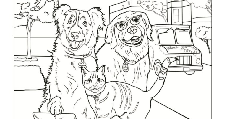Free Dog And Cat Coloring Pages