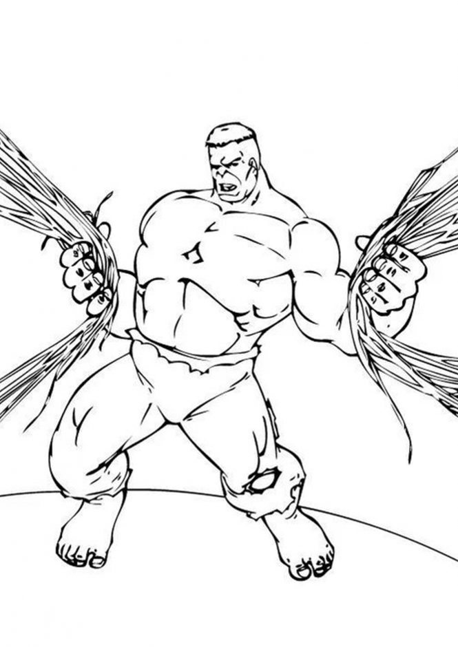 free easy to print hulk coloring pages online