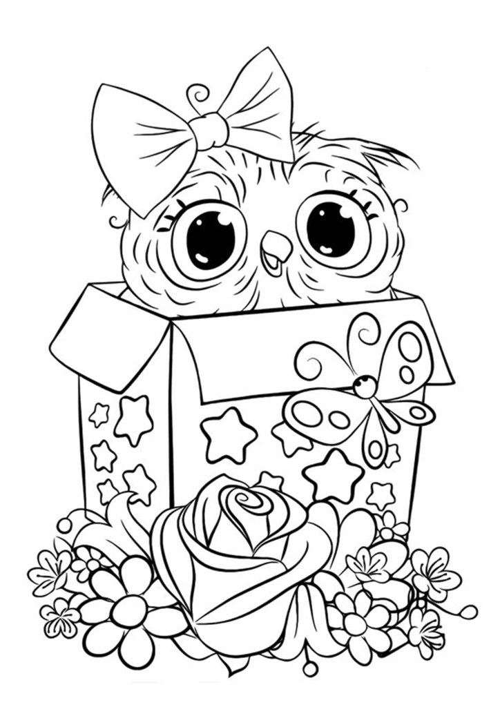 free easy to print owl coloring pages to sharing online
