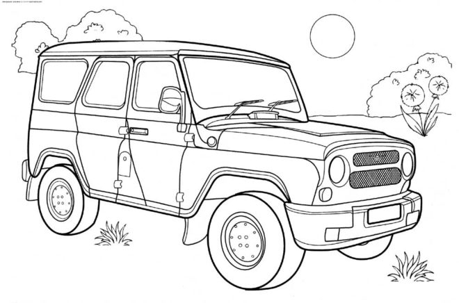 free jeep coloring pages to print wallpaper HD