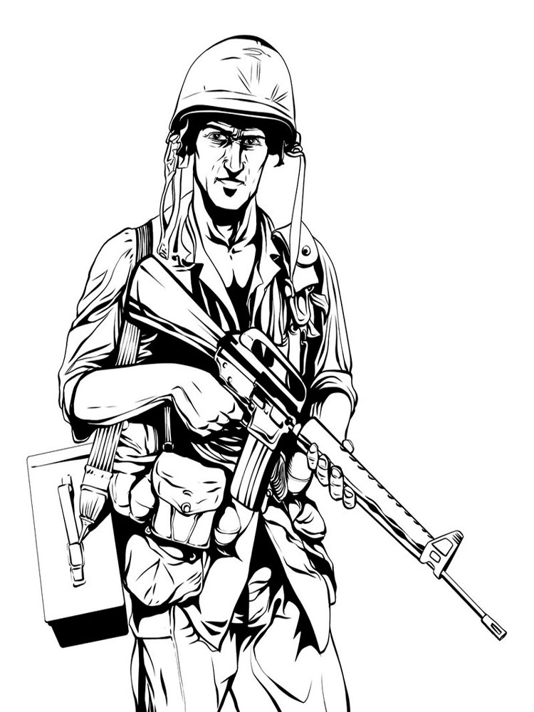 free military coloring pages image