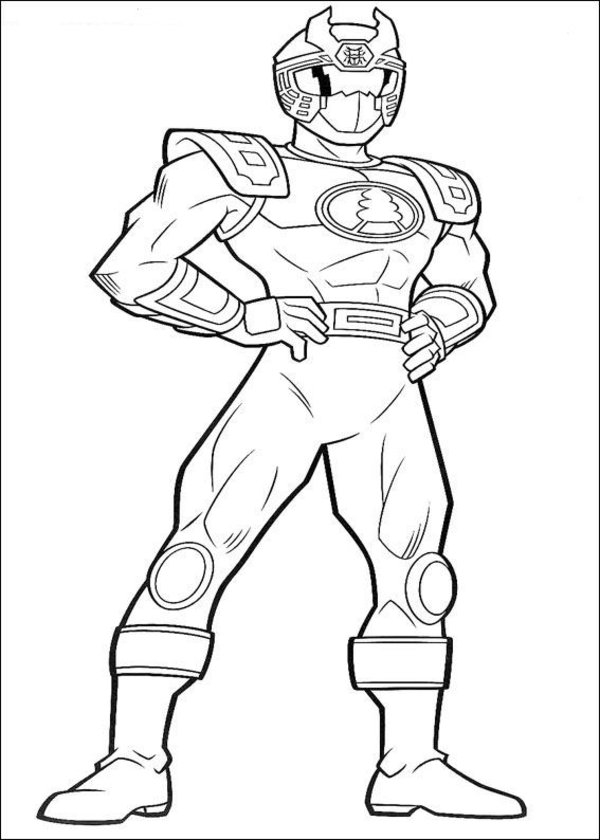 Free Power Rangers Coloring Pages