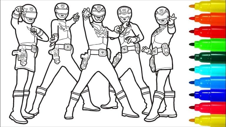 free Power Rangers printable