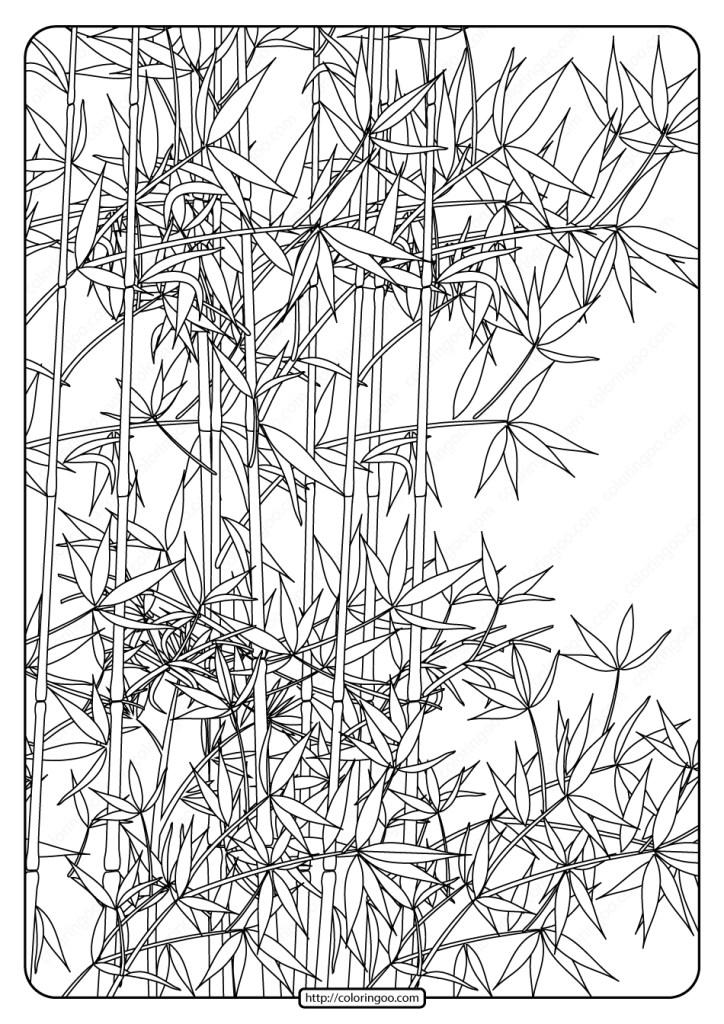 free printable bamboo garden pdf to print