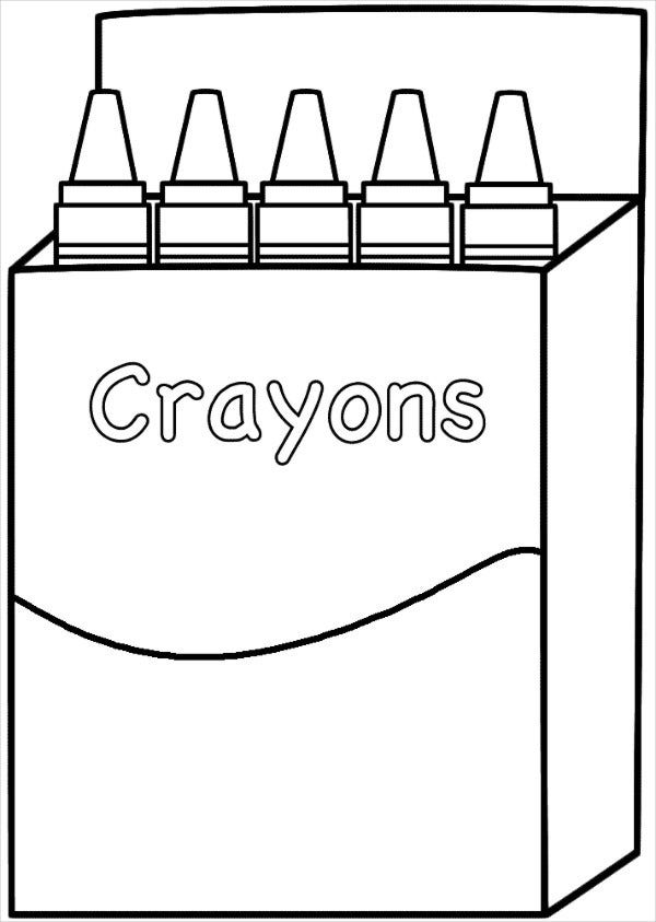 Free Printable Crayon Coloring Pages