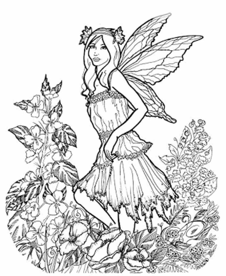 free printable girl spring coloring pages for adults
