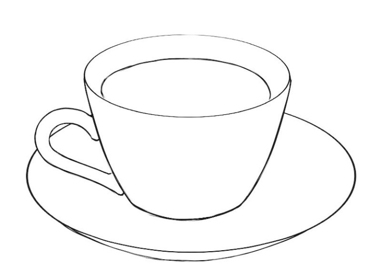 Free Printable Tea Cup Coloring Pages