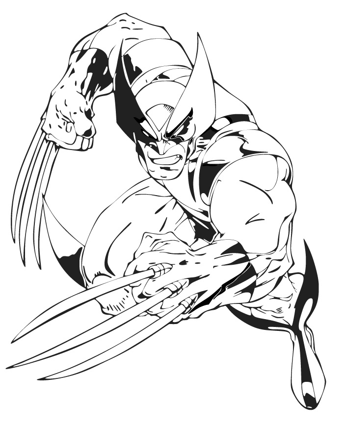 free wolverine coloring pages for kids