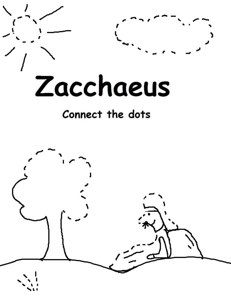 free zacchaeus coloring pages