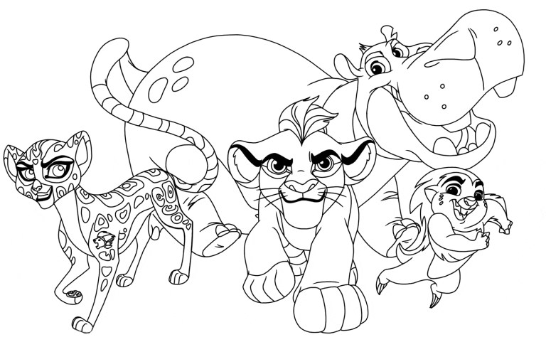 Fuli Lion Guard Coloring Pages