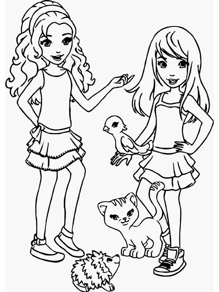 Girl Lego Coloring Pages