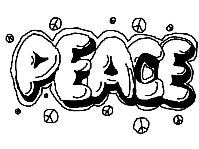 Graffiti Coloring Pages For Adults