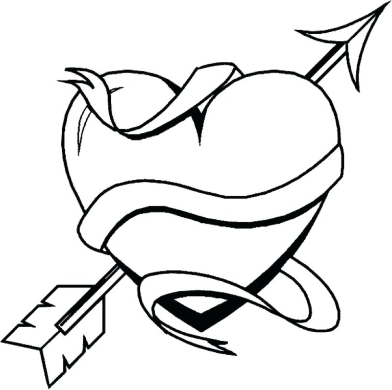 heart graffiti coloring pages free downloads