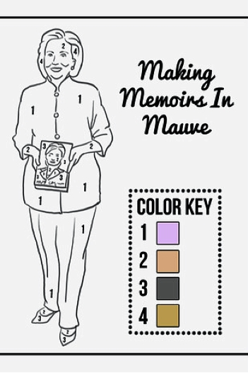 hillary clinton pantsuit coloring book to print