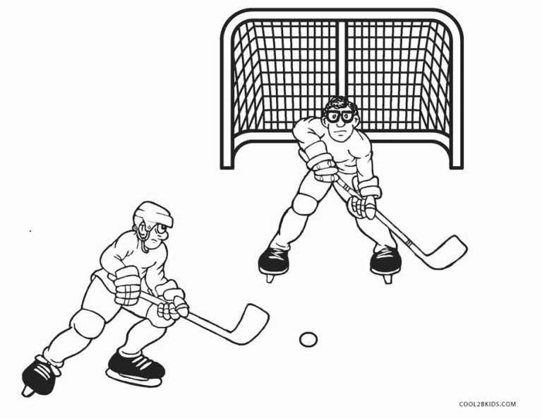 Hockey Coloring Pages To Print