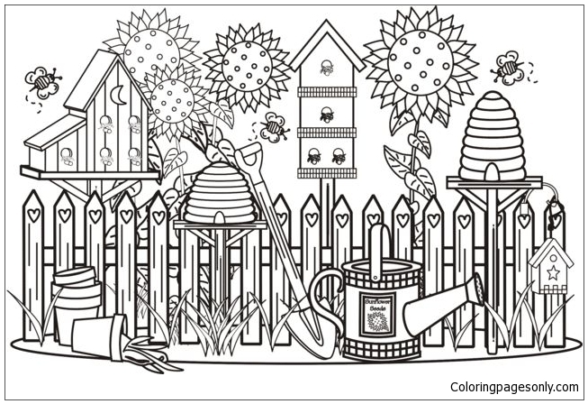 home beautiful garden coloring pages nature seasons