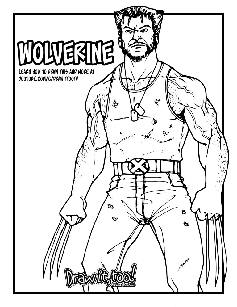 how to draw wolverine x men movie franchise drawing online