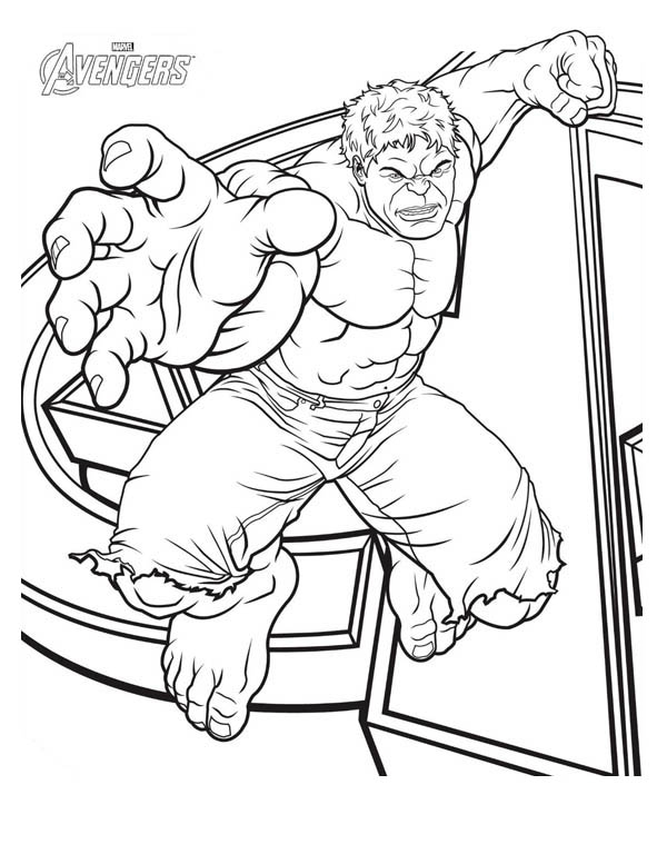 Hulk Marvel Avengers Coloring Pages