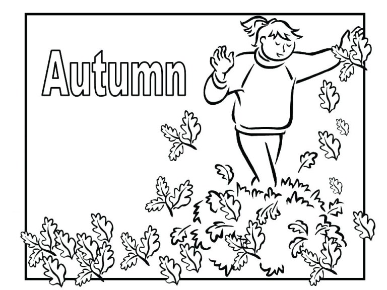 Leaves Coloring For Kids To Print