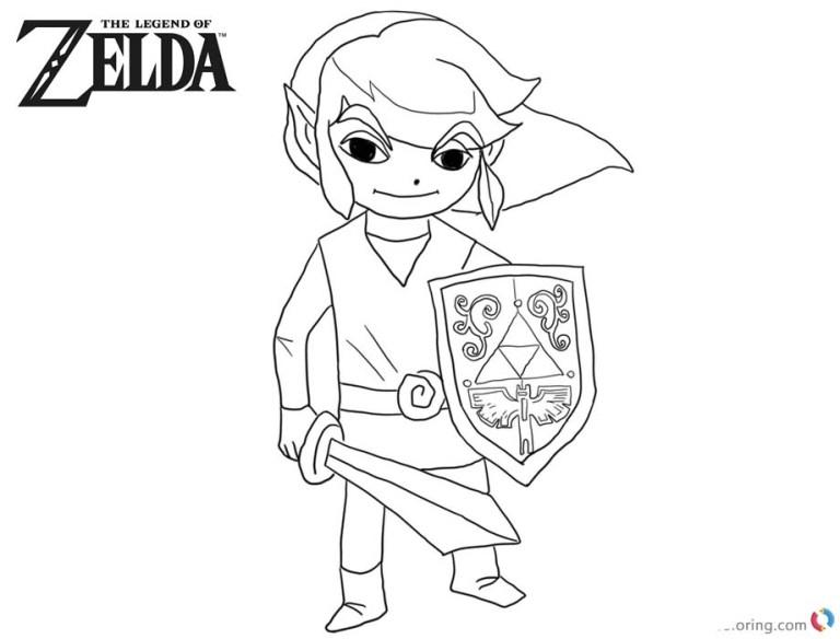 Legend Of Zelda Link Coloring Pages